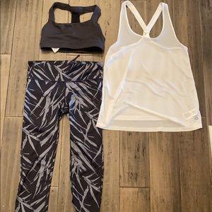 Gap Fit bundle of leggings, sports bra, & tank